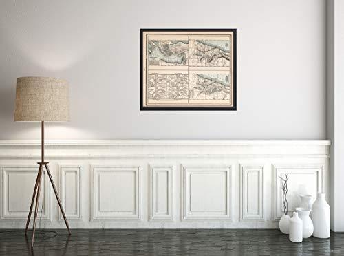 Map World Atlas, Judea 1893, Historischer Antik-Vintage-Nachdruck, Größe: 20 x 61 cm
