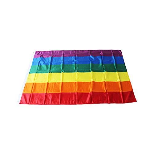 cm 5 * 3ft Homosexuell Lesben Bunte Regenbogenfahnen Frieden Banner Parade Fahnen Verblassen Widerstand LGBT Stolz Flagge Hauptdekorationen (Regenbogen Farbe) ()