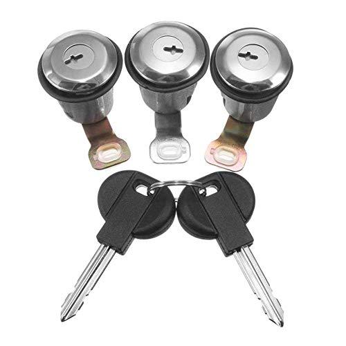Nrpfell Aluminum Alliage Moto Verrouillage Guidon Verrouillage Antivol Verrou Protection Protection pour Serrures De V/éLo De Montagne Serrure /à Lever avec 2 Cl/éS
