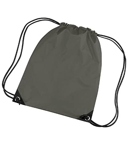 Bagbase Unisex Adults Premium Gymsac Bag Olive One Size