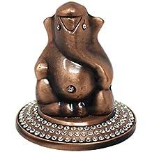 Tootpado Ganesh Idol for Car Dashboard Lord Ganesha God Idol - Copper (4.5x4.5x5cm) (4DER156)
