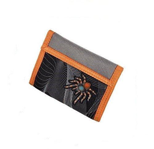 Hama Step by Step Geldbeutel Modell: Tarantula / Spider Farbe: Grau / Schwarz / Orange mit Spinne als Abbildung. Neu! Geldbörse Geldbeutel Brustbeutel Umhängegeldbeutel NEU!