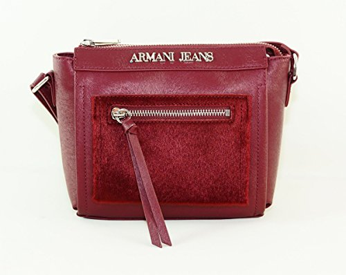 Armani Jeans Damen 9221046A728 Schultertaschen, Rot (BORDEAUX 00176), 17x7x23 cm