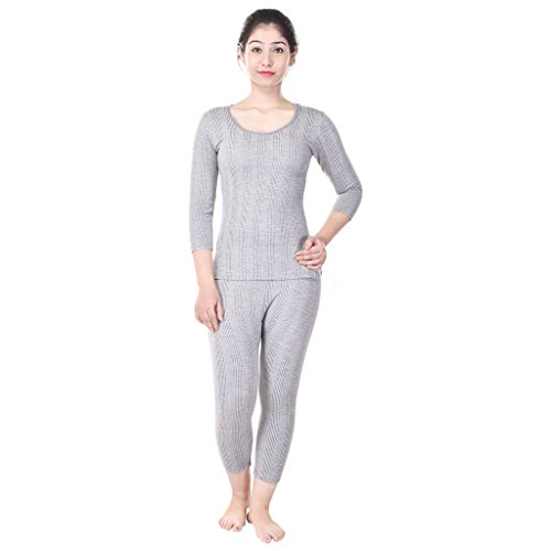 Bee Oswal Grey Round 3/4th Sleeve Women's Top And Payjama (The Great Indian Sale