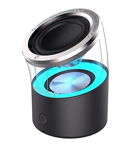 Bluetooth Altavoz inalámbrico TWS Tarjeta subwoofer Ambiente lámpara Exterior, Negro