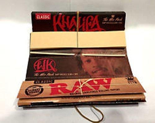 Wiz Khalifa-The Wiz Pack-Raw King Size Slim Connoisseur Zigarettenpapier, + TIPPS (Neue Produkt von Raw)-5Heftchen (King Papers Khalifa Size Wiz)