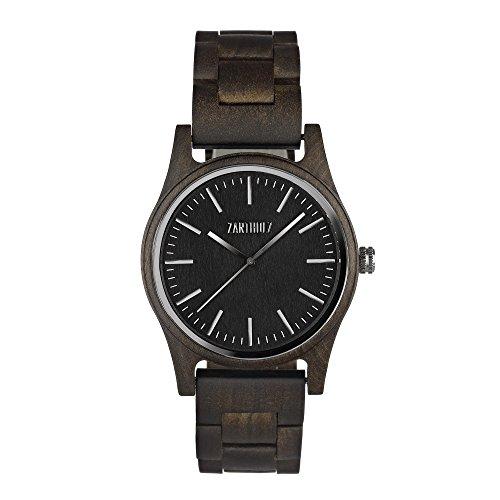 ZARTHOLZ Herren Damen Holzuhr Holz-Armbanduhr Meister Sandelholz