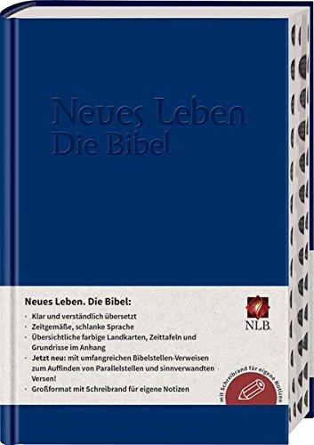 Neues Leben. Die Bibel - mit Parallelstellen, Schreibrand und Registerstanzung: blau