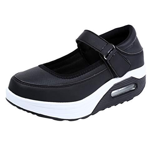 Cardith Damen Fitness Leder Schuhe Mode Lässig Feste Atmungs Shake Schuhe Sport (Camper Baby Schuhe)
