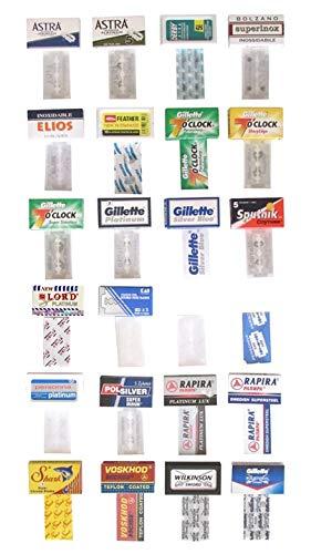 Rasierklingen doppelte Qualitätsdraht für Rasierapparate, Schachtel mit 24 Rasierklingen