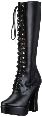 Pleaser ELECTRA-2020 Damen Stiefel, Schwarz (Blk pu), EU 39 (UK 6) (US 9) (Pleaser Schuhe Stiefel)