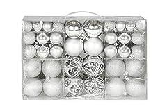 Idea Regalo - Unbekannt Esclusivo palline di Natale con palle di Natale Set 100 pezzi colore argento