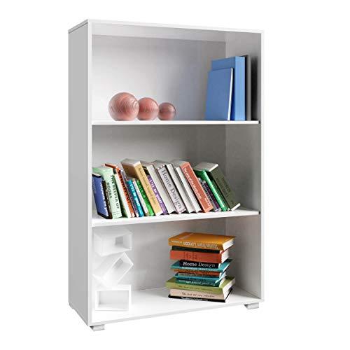 Deuba Standregal Bücherregal Wandregal Regal Holz »Vela« 3 Fächer Weiß【weitere Modell- & Farbauswahl】 -