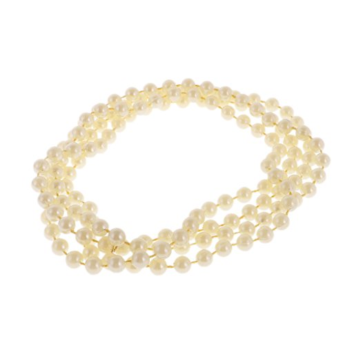 Sharplace Lange Gelbe Perlen Halskette Mädchen Fancy Dress Kostüm Zubehör