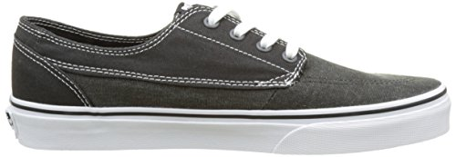 Vans Herren Ua Brigata Sneakers Schwarz (Washed Canvas Pirate Black/white)