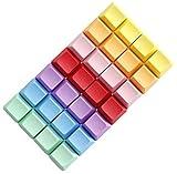 JINKAKA 4 Pezzi A Set Vuoto R1 R2 R3 R4 Multiplo di Colore Pbt Spessore OEM Profilo per Tastiera Meccanica-Viola