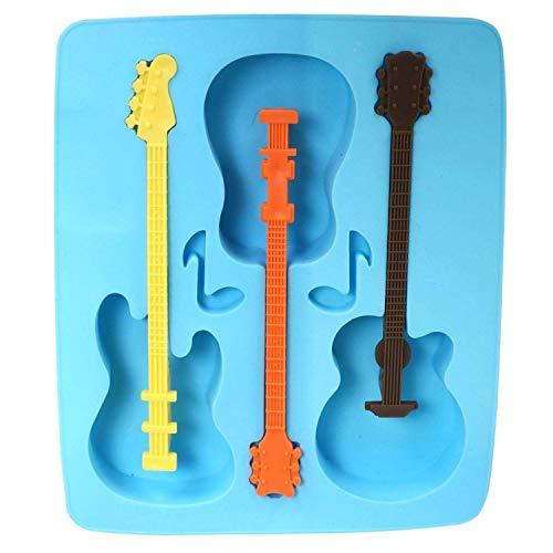 (Preis am Stiel 2 x Eiswürfelformen Silikon ''Cool Jazz - Gitarren'' | Musiker)