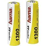 Hama - Pilas recargables NiMH AA 1300 mAh (Paquete de 2)