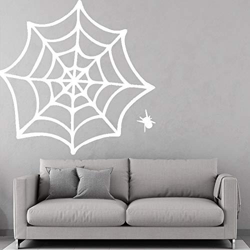 guijiumai Spinnennetz Muster Wandaufkleber Für Kinderzimmer Dekor Zubehör Vinilos Decorativos Cobweb Aufkleber Für Kinderzimmer Poster schwarz 43cm X 41cm