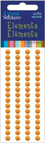 Orange Crystal Stickers Elements 5mm by Mark Richards Elements Crystal Stickers (Mark Crystal Sticker)