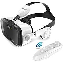 Z4VR Gafas de Realidad Virtual Gafas 3d teléfono inteligente móvil para iphone Samsung Sony LG OnePlus HTC todos los 4.0–6.0pulgadas Android iOS Teléfono con inalámbrico Bluetooth Gamepad Mando a distancia