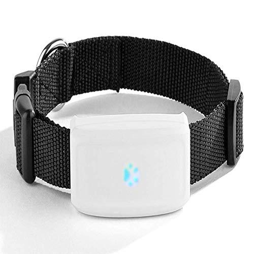 CTAO Tractive GPS Peilsender Der Sender Fürs Halsband, Wasserdichter Mini Tracker Für Hunde Und Katzen 6 * 2.8 * 1.8cm,Black