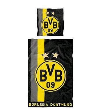 bvb Merchandising GmbH bvb Linge de lit 135x200 - noir jaune, 135x200 cm