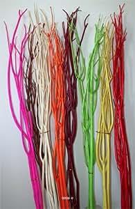 Artificielles - Bois lave orange x3 branches de saule colore naturel