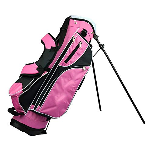 Golf Stand Bag Golf Bag Verschleißfeste, rutschfeste Golf Stand Bag Golfzubehör für Herren und Damen Golf Club Bag Hochwertige wasserdichte Golf-Zubehörtasche ( Farbe : Rosa , Größe : 76*22*28cm )