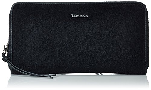 Tamaris Damen Althea Big Zip Around Wallet Geldbörsen, Schwarz (Black 001), 19x10x2 cm (Zip-around Zehn Wallet Damen)