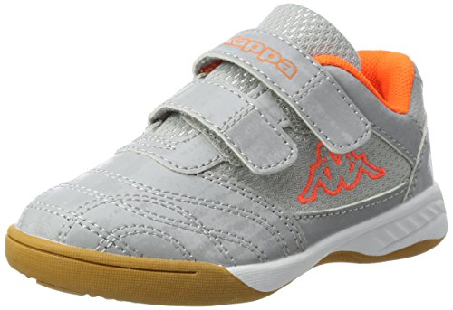 Kappa Unisex-Kinder Kickoff Kids Sneaker, Silber (1544 Silver/Orange), 28 EU