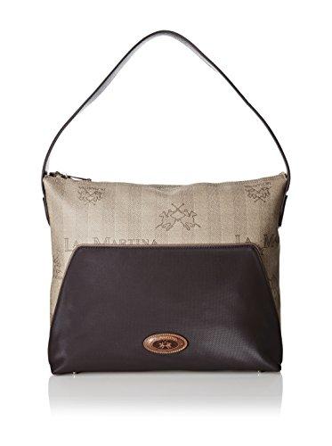 La Martina Borsa Donna Hobo Bag Lady fw15 004 Marrone scuro