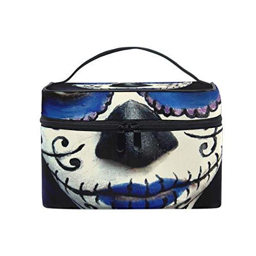 Tragbare hängende Make-up Kosmetiktasche Tasche,Makeup Bag Guy Sugar Skull Makeup Cosmetic Bag Portable Large Toiletry Bag for Women/Girls Travel