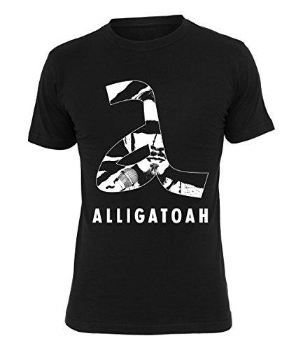 Alligatoah T-Shirt Logo A Schwarz