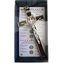 c03134180e7 10.004.31 Brown - Cruz de plata marrón de San Benito