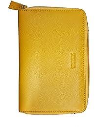 Satya Paul Women's Leather Wallet (Mustard, T1820086)