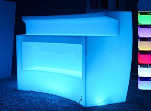 Gowe batterie Multicolor LED Lumineux meubles, barre d'angle, LED Break Table de bar, télécommande lumineuse LED Comptoir de bar