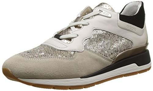 Geox D Shahira B, Sneakers Basses Femme Beige (Off White/Lt Taupec1181)