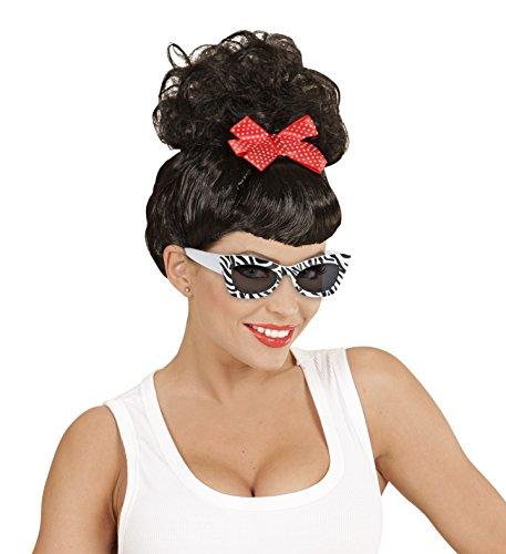 WIDMANN 50er Jahre Zebra Rockabilly-Brille für Erwachsene