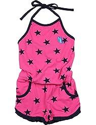 Zunstar Stacy - Traje / Body de náutica para niña, color Rosa (Cerise/Navy), talla UK: Talla 98/104