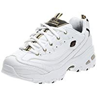 SKECHERS Sports, Women's Sneakers, White (White/Black/Gold), 38 EU