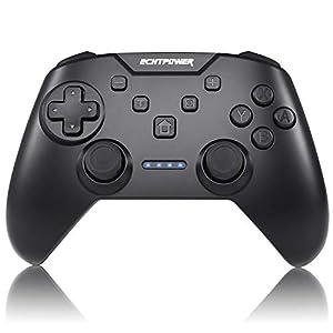 ECHTPower Controller für Nintendo Switch, Bluetooth Wireless Pro Controller mit Vibration und Turbo Funktion Swtich Gamepad mit 6 Achse Sensor und 600mAh Akku Zubehörsets für Nintendo Switch