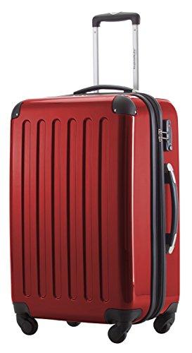 HAUPTSTADTKOFFER® 2er Hartschalen Kofferset · Koffer 87 Liter (63 x 42 x 28 cm) + Koffer 130 Liter (75 x 52 x 32 cm) · Hochglanz · Zahlenschloss · SCHWARZ Rot