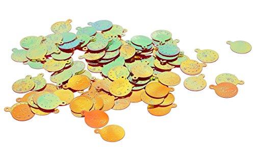 Bauchtanz Fasching Deko Bastel Münzen, Gold AB, 200 Stück #J14