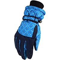 WEHOLY - Guantes de esquí para Deportes al Aire Libre (Forro Polar), Azul