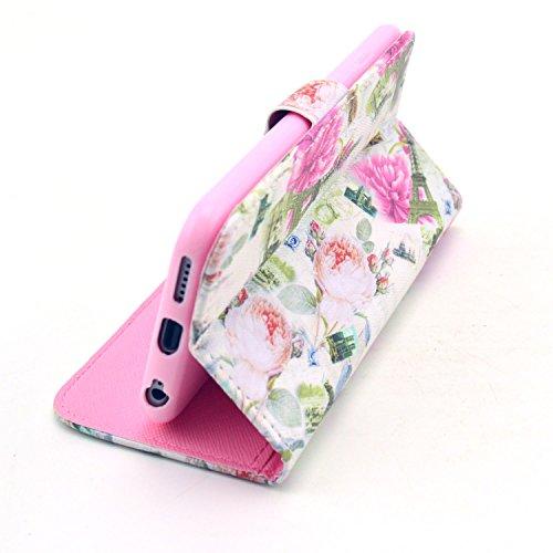 """MOONCASE iPhone 6 Case Motif Conception Coque en Cuir Portefeuille Housse de Protection Étui à rabat Case pour iPhone 6 (4.7"""") P18"""