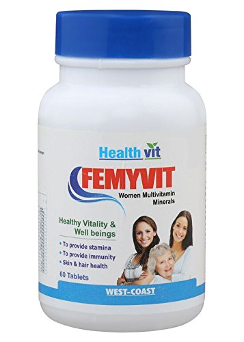 HealthVit FEMYVIT Women A to Z multivitamin & Minerals 60 Tablets  available at amazon for Rs.210