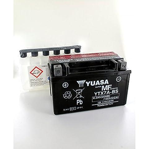 Yuasa - Plomo 12V 6.3Ah YTX7A - BS YUASA MF motos de la batería - YTX7A-BS-OR