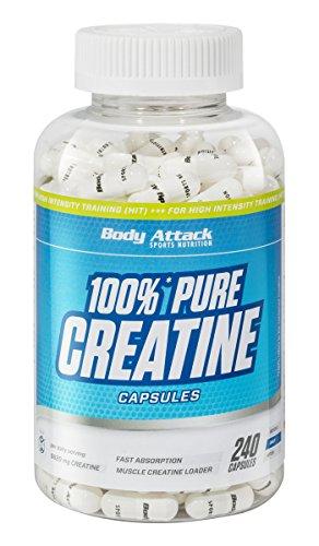 Body Attack 100% Pure Creatine – 240 Kapseln, hochwertiges mikrofeines Kreatin Monohydrat für Muskelwachstum, Kraft und…