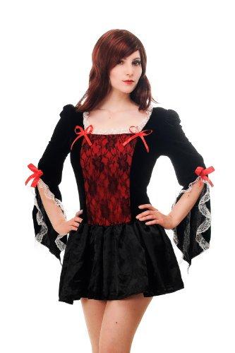 DRESS ME UP Kostüm Damenkostüm Kleid Knapp & Sexy Barock Gothic Lolita Cosplay Märchen Piratin L070 Gr. 44 / L